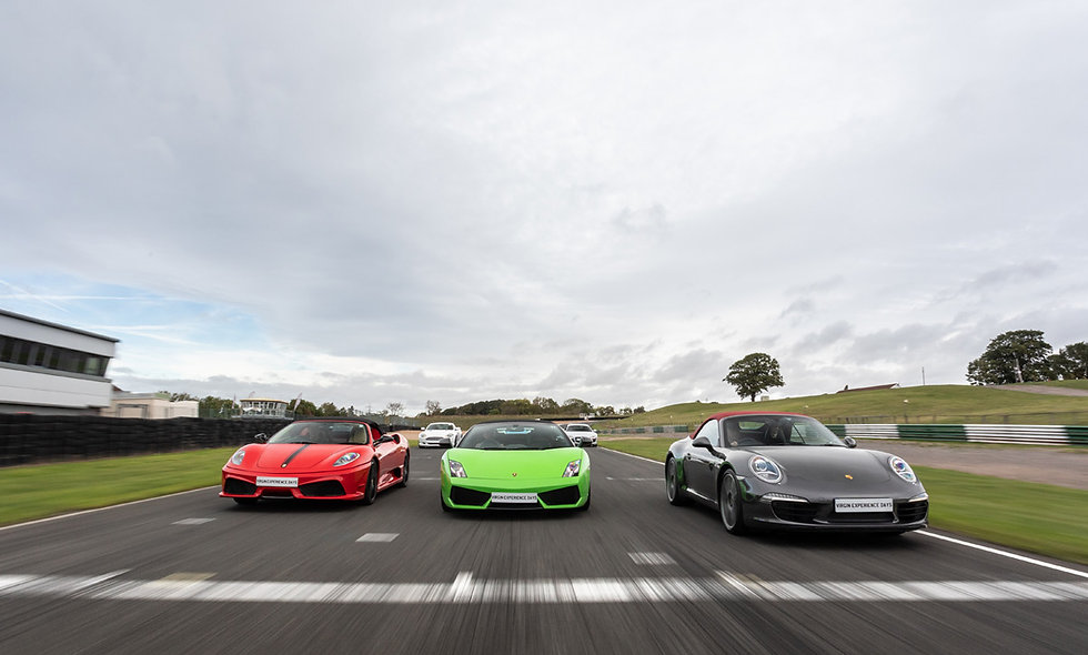 Five Supercar Thrill plus High Speed Passenger Ride