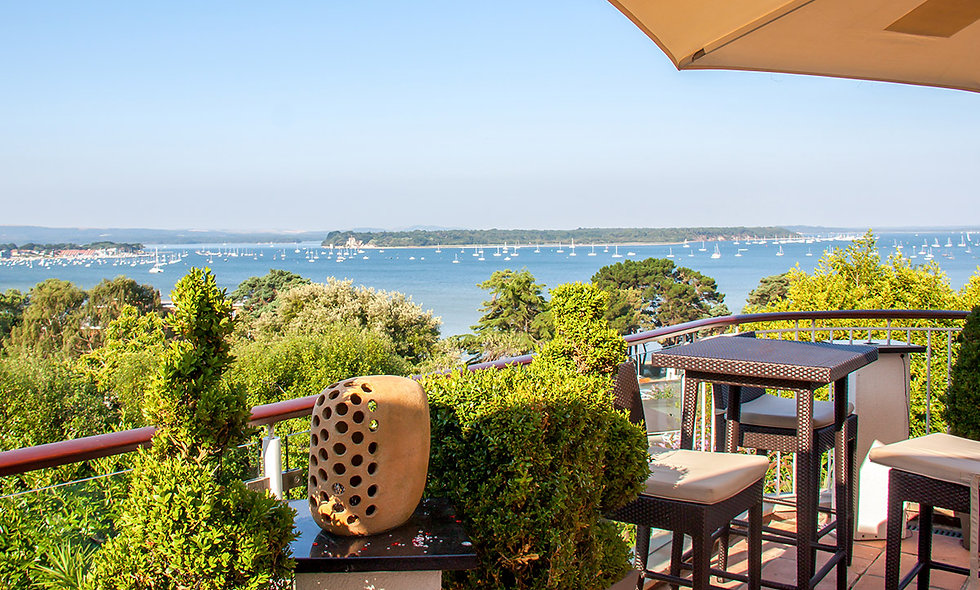 One Night Coastal Break for Two at the 4* Harbour Heights Hotel, Poole.