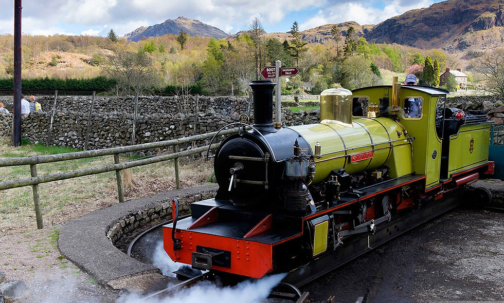 One Night Lake District Break with Dinner and Steam Railway Rie
