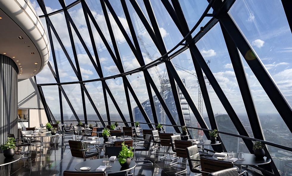 Four Course Sunday Brunch with Champagne for Two at London's Gherkin