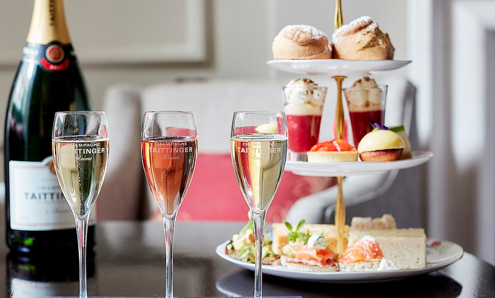 Taittinger Champagne Flight Afternoon Tea for Two, Arch Hotel London