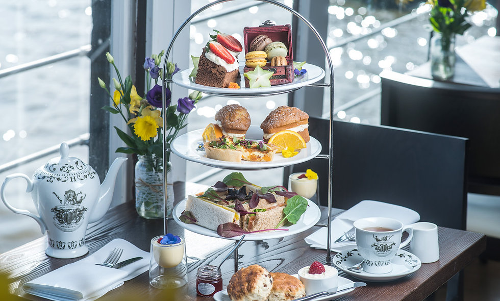 Riverside Afternoon Tea for Two on The Yacht, Lond