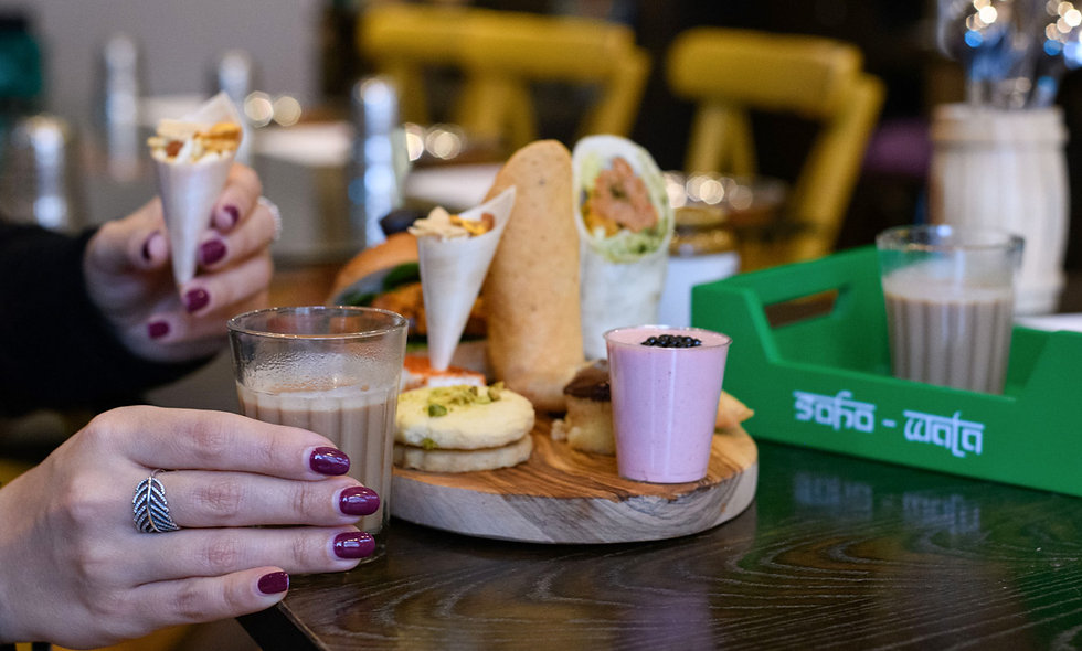 Indian Afternoon Tea for Two at Soho Wala, London