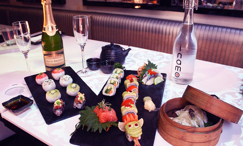 Sushi and Dim Sum Afternoon Tea with Fizz for Two
