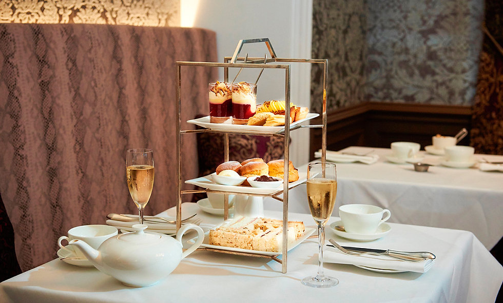 Champagne Afternoon Tea for Two at Bovey Castle, Devon