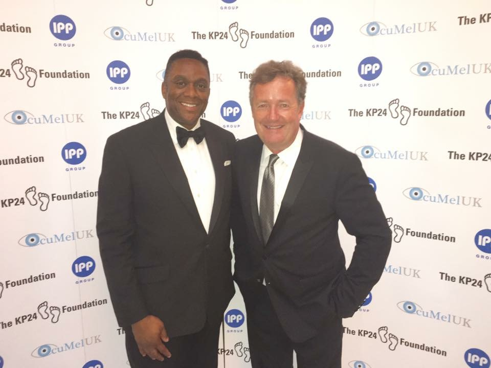 Harold with Piers Morgan
