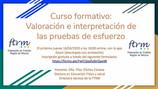 Curso formativo: Valoración e interpretación de las pruebas de esfuerzo