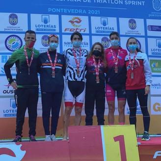 Natalia Hidalgo y Laura Durán, Campeona y Subcampeona en el Nacional de Triatlón Sprint