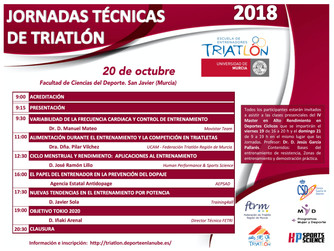 Jornadas técnicas de Triatlón en la Universidad de Murcia los días 20 y 21 de Octubre