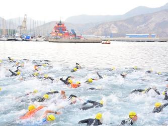 Cartagena se engalana en su XIII Triatlón con más de medio millar de participantes