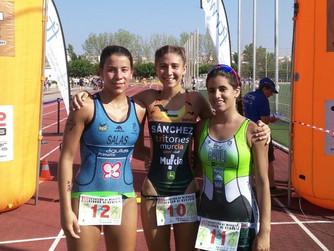 Jesús Montoya y Paula Sánchez ganan el Acuatlón de Cehegín