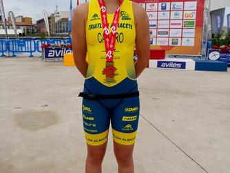 Eva Sánchez Castro se proclama Campeona de España de Duatlón Cadete en Avilés