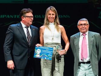 Mabel Gallardo premiada en la II Gala del Deporte Murciano