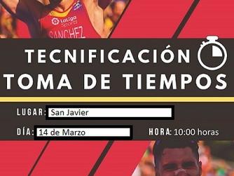 Toma de tiempos tecnificación, Domingo 14 de Marzo en San Javier