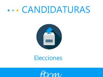Elecciones: Presentación de candidaturas
