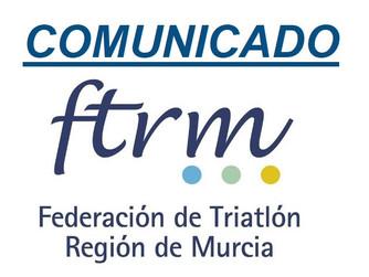 Comunicado de la Federación de Triatlón de la Región de Murcia (act. 06/05/20)
