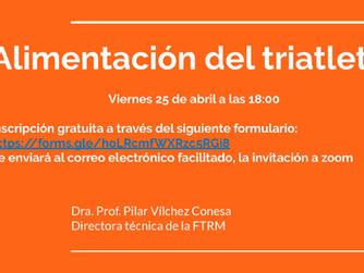 Curso Online Viernes 25 de Abril, Alimentación del Triatleta