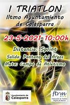 Cartel I Triatlon Ayuntamiento de Calasp
