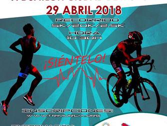 El Duatlón Ciudad de Murcia será el 29 de abril de 2018