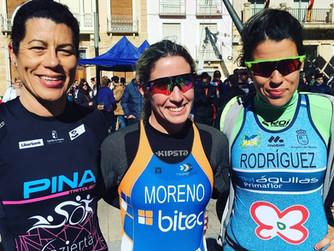 Rafael López y Cristina Moreno lideran la primera prueba de la Liga Regional de Duatlón