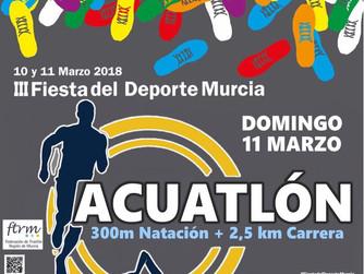 Acuatlón en la III Fiesta del Deporte de Murcia