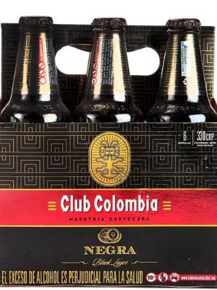 Cerveza Club Colombia Negra  6 pack