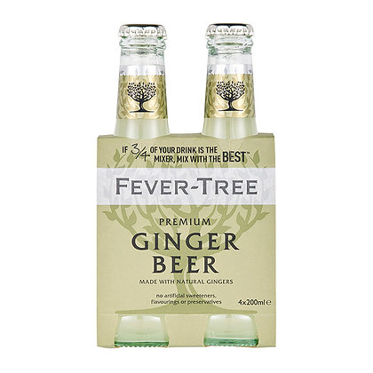 Tonica Ginger Beer fever Tree 4 pack