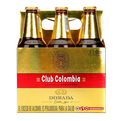 Cerveza Club Colombia Dorada 6 pack