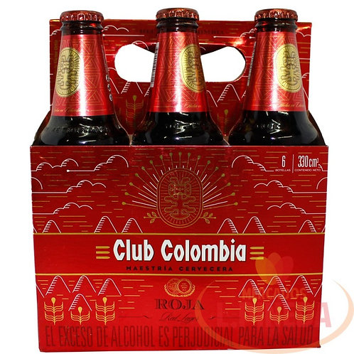 Cerveza Club Colombia Roja  6 pack