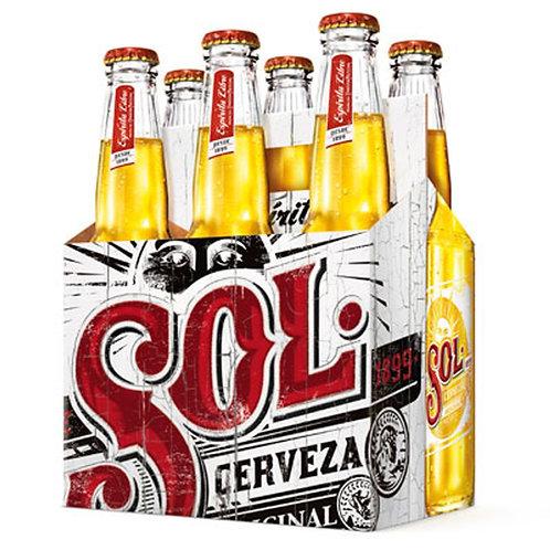 Cerveza Sol  6 pack