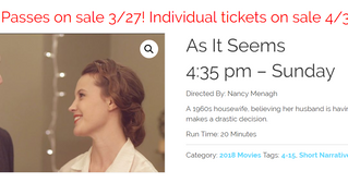 """As It Seems"" Screening and Ticket Info for Kansas City FilmFest"