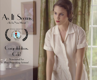 Cole Johnston Nominated for Best Supporting Actress from Hang Onto Your Shorts Film Festival!