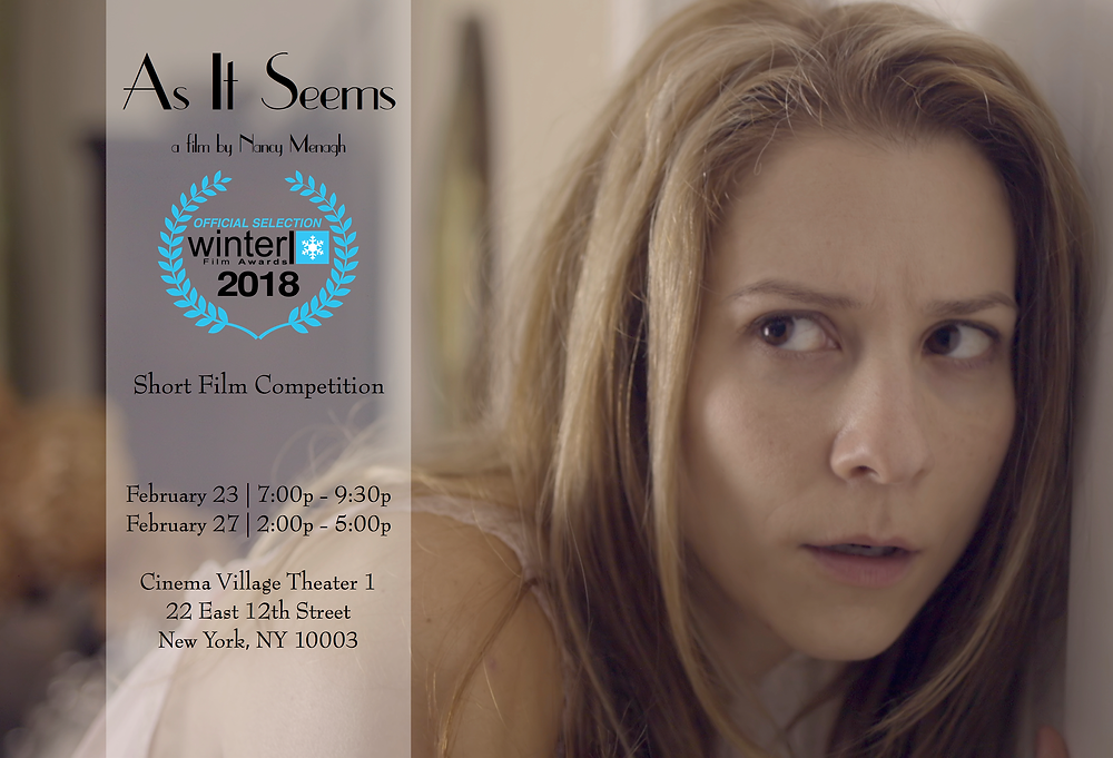 """""""As It Seems"""" film still announcing its Winter Film awards acceptance and screening information."""