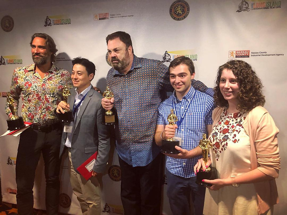 Nancy Menagh poses with fellow winners at the Long Island International Film Expo