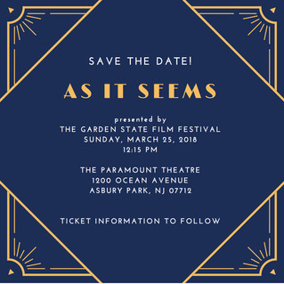 Save the Date! Garden State Film Festival Screening Details