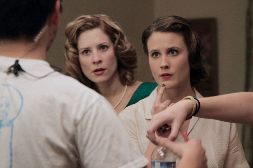 """Two actresses take scene direction while film the dramatic short film """"As It Seems"""""""