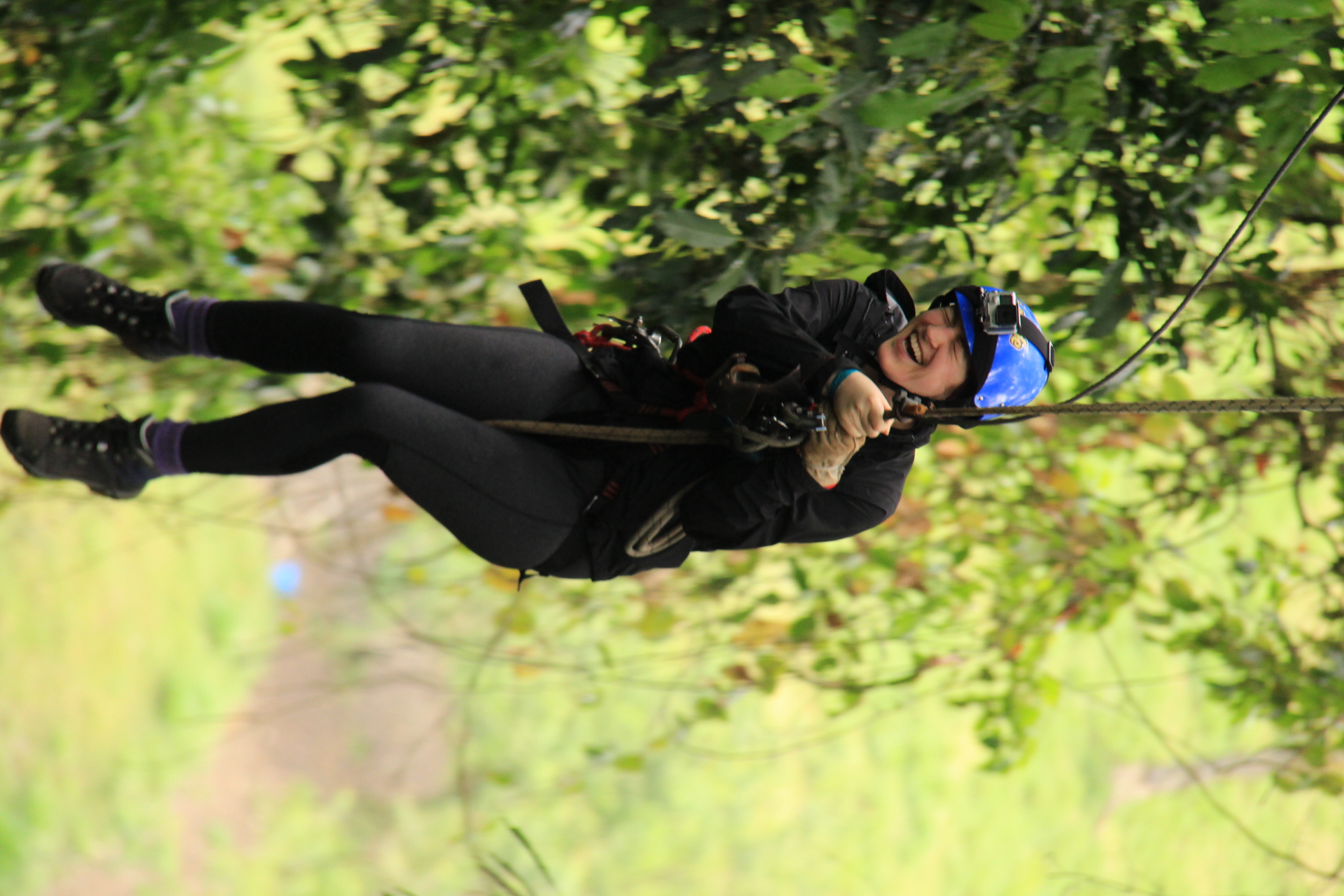 Ziplining Through the Jungle Canopy