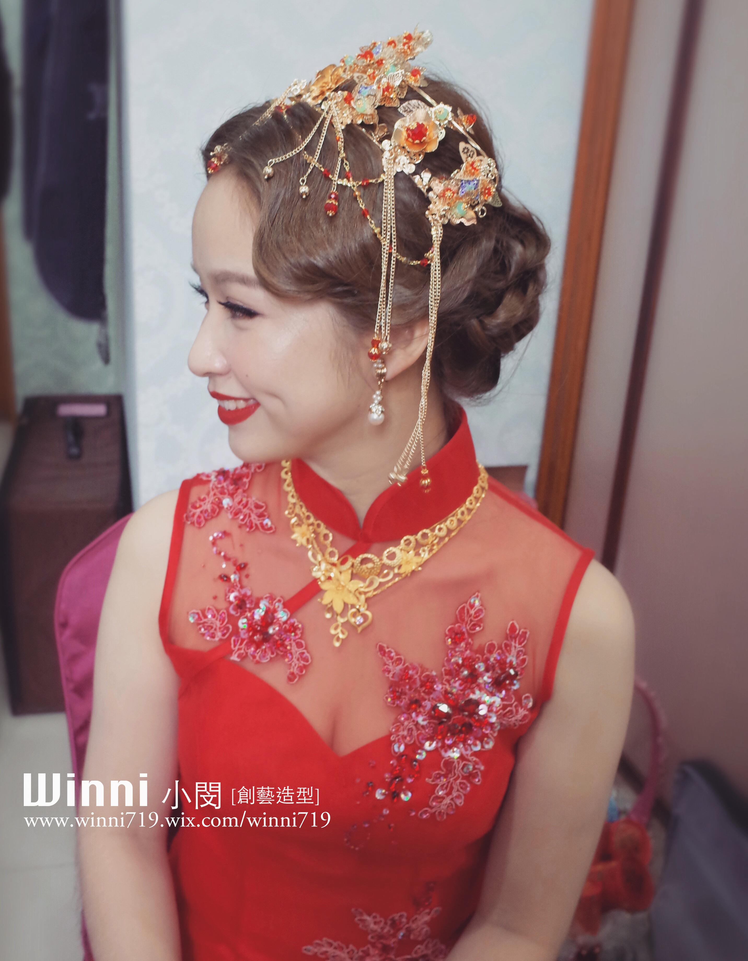 中式指推波紋-新娘復古造型