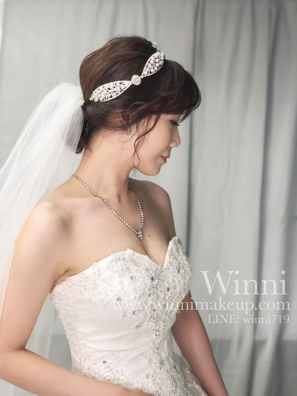 #白紗造型,#新娘造型,#低盤髮造型,#新娘妝