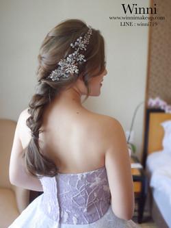 #編髮馬尾新娘造型 #婚宴現場造型
