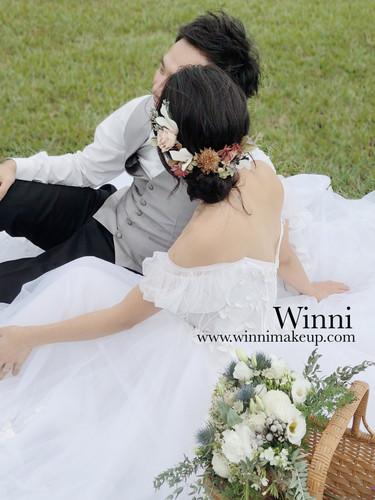自主婚紗造型