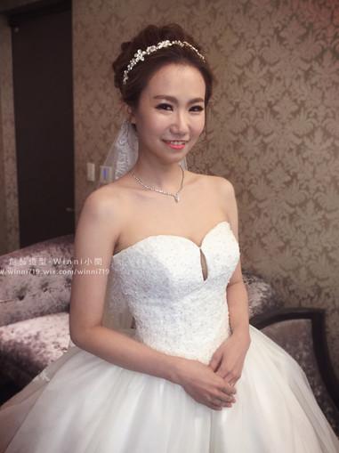 高盤髮-白紗新娘造型