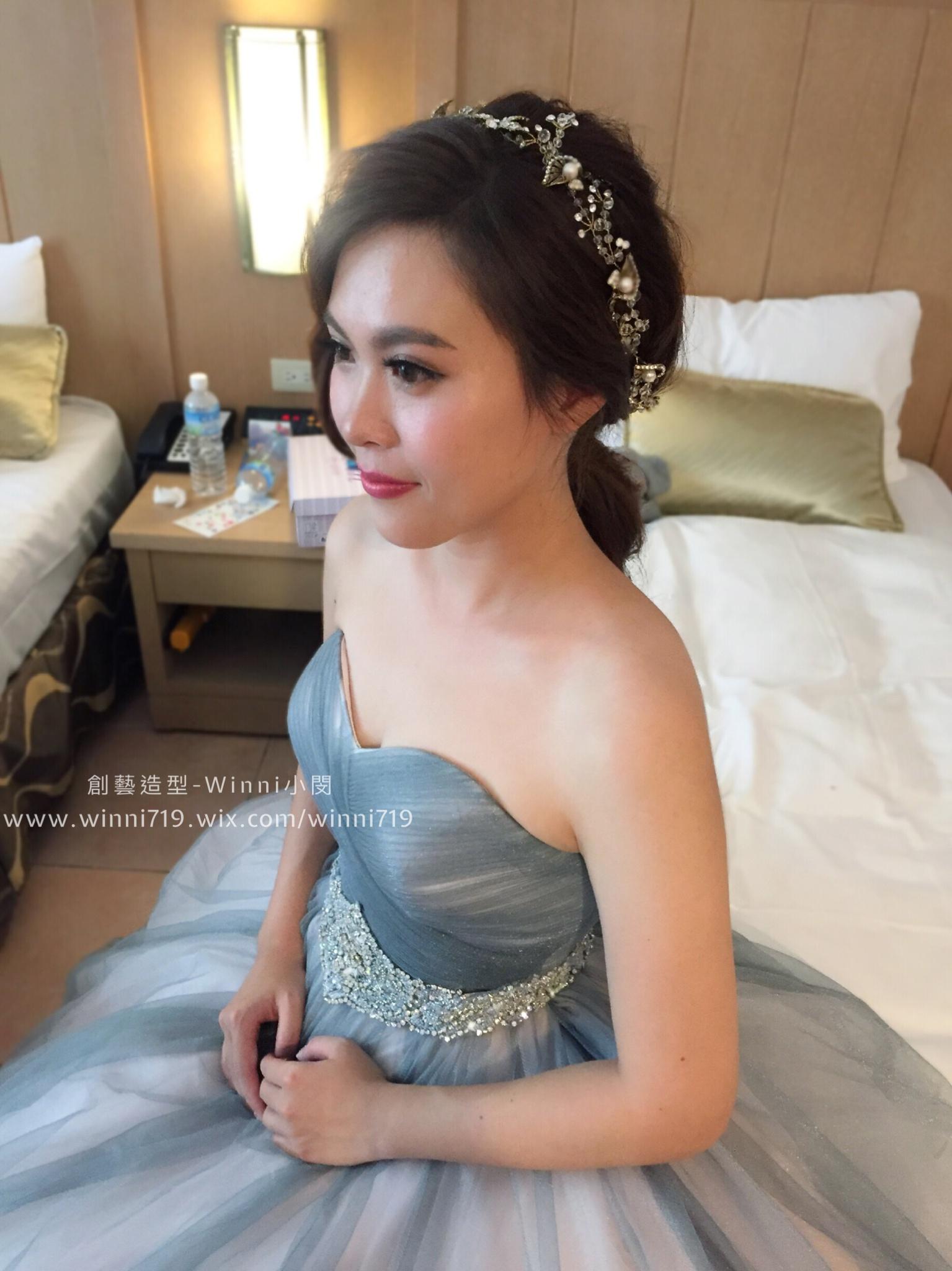 透亮光澤妝容-新娘造型