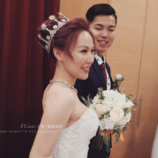 白紗新娘造型-高盤髮