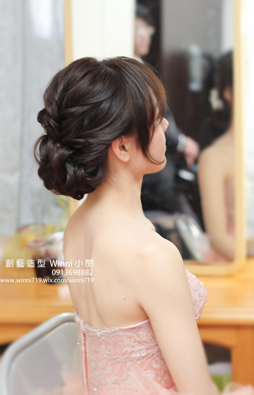 優雅盤髮-新娘造型