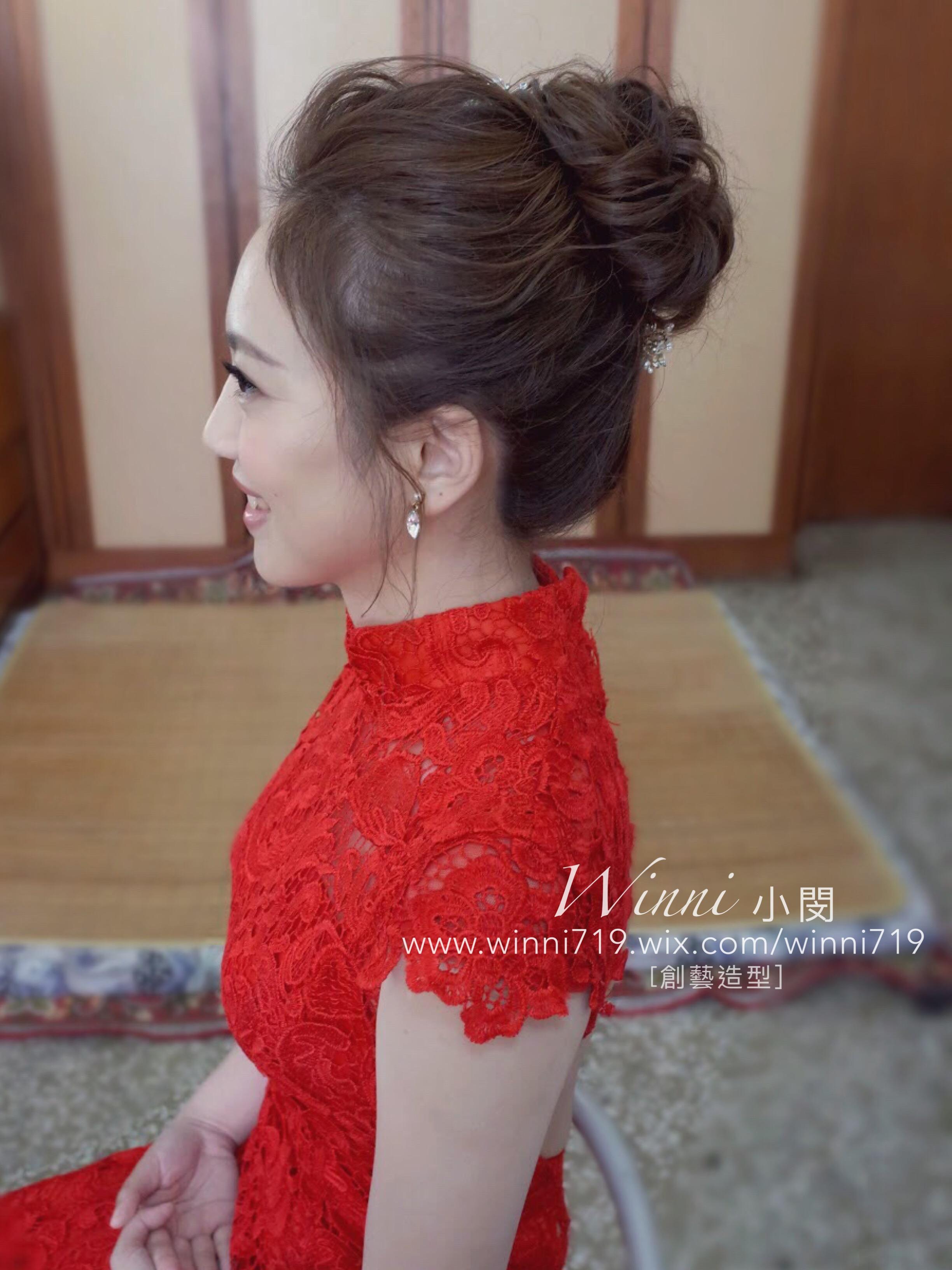 高盤髮-晚禮服新娘造型