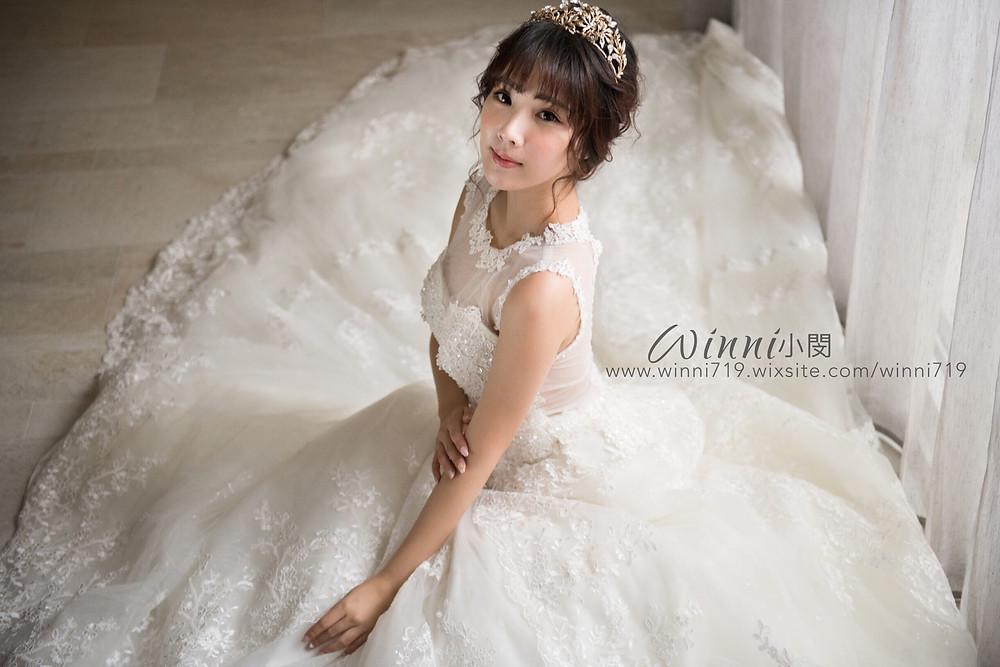 #白紗造型 #新娘造型 #低盤髮造型 #新娘妝 #皇冠造型
