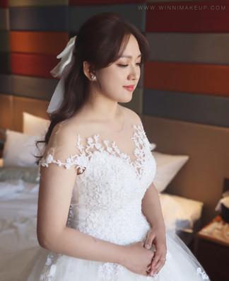 #白紗造型 #蝴蝶結造型 #婚宴造型 #韓系蝴蝶結 #公主頭