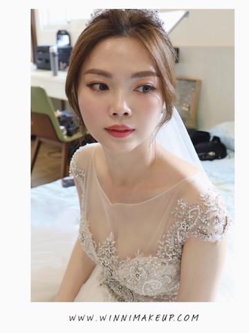 #白紗造型 #婚紗造型 #盤髮造型  #winni小閔妝髮造型