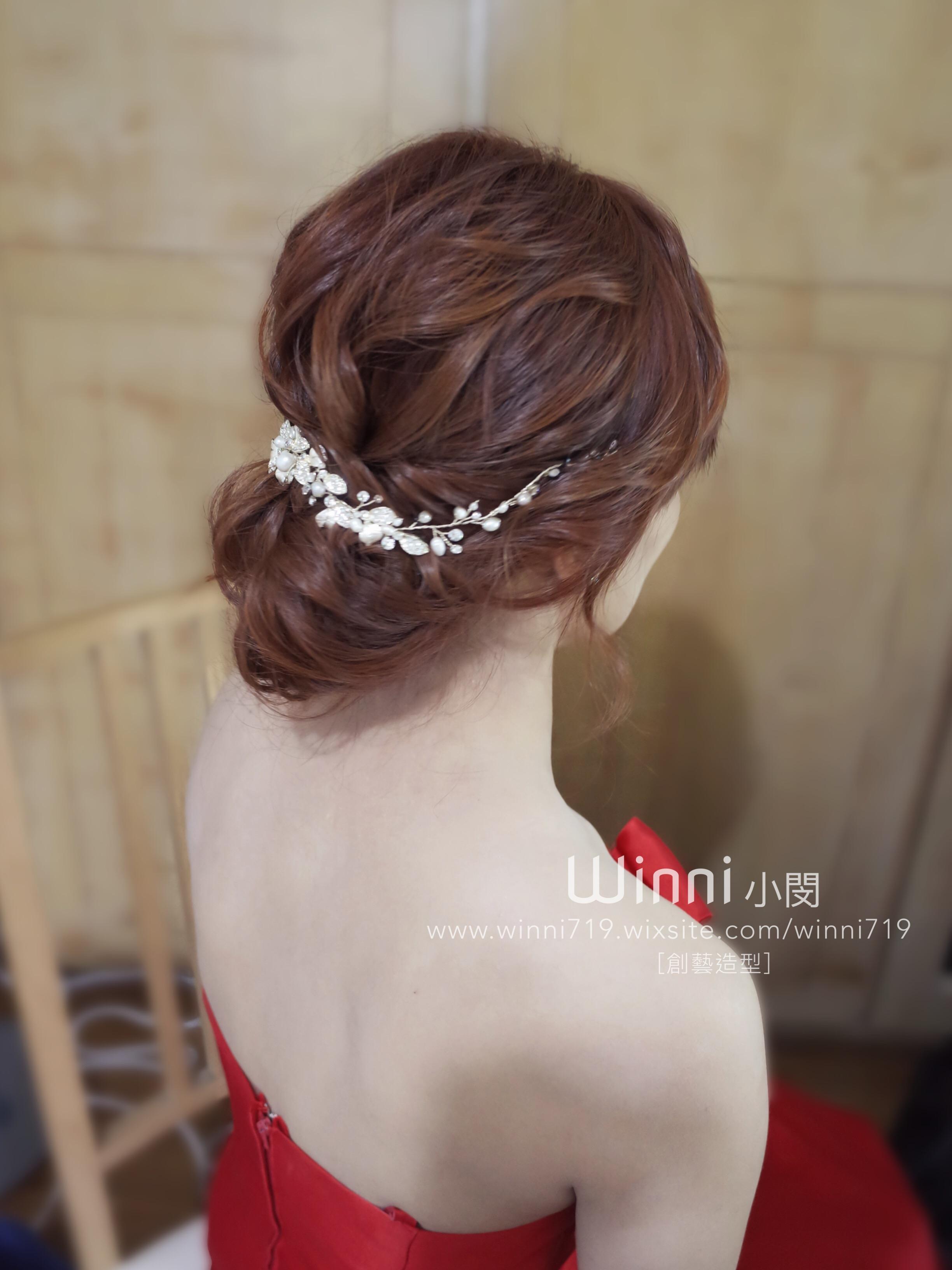 氣質低盤髮-訂婚造型